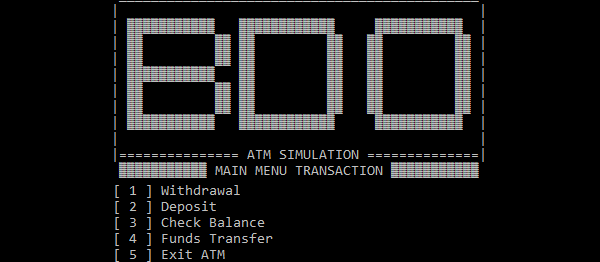 ATM Simulator System In C++ With Source Code