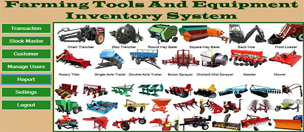 Farming Tools And Equipment Inventory System In VB.NET With Source Code