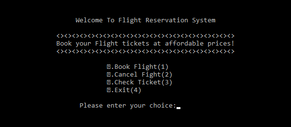 Flight Reservation System In C++ With Source Code