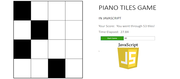 Piano Tiles Game In JavaScript With Source Code