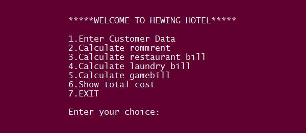 Simple Hotel Management System In PYTHON With Source Code