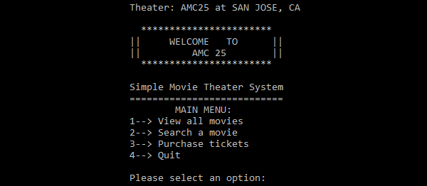 Simple Movie Theater System In C++ With Source Code