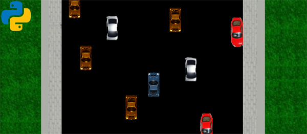 Simple Traffic Racer Game In PYTHON With Source Code
