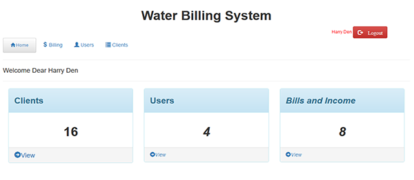 Water Billing System In PHP With Source Code