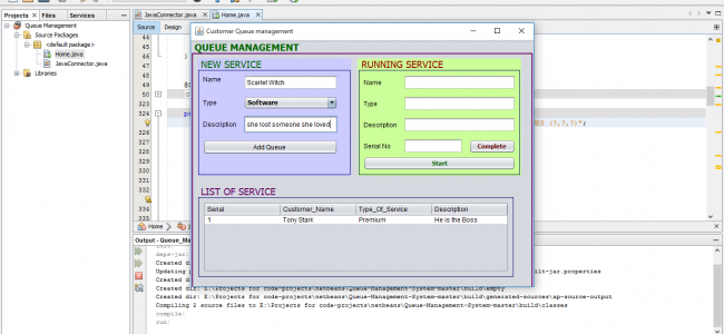 Customer Queue Management System In Java With Source Code | Source