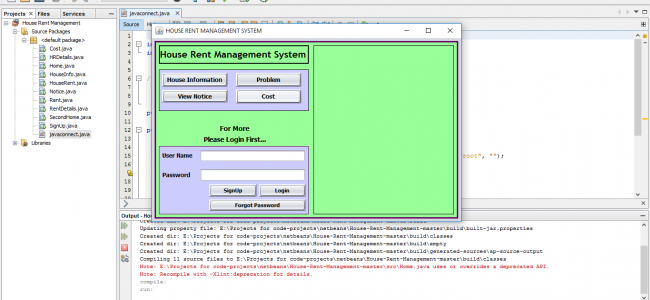 House Rent Management System In Java With Source Code