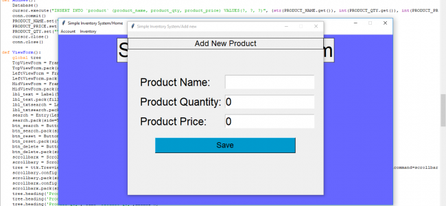 Simple Inventory System In PYTHON With Source Code | Source