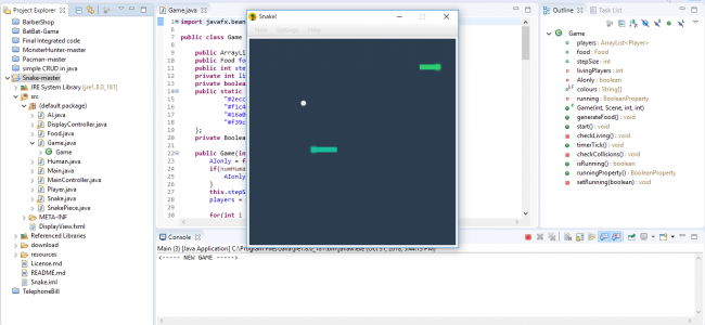 java snake game code