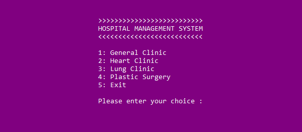 Hospital Management System In C++ With Source Code