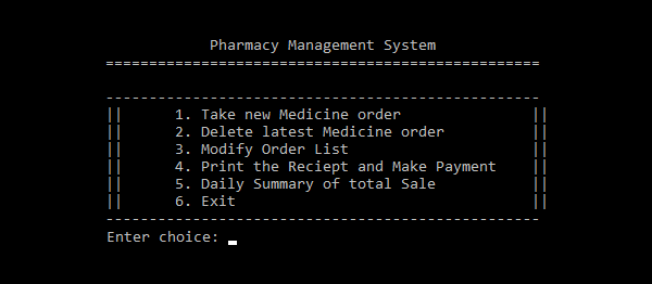 Pharmacy Management System In C++ With Source Code