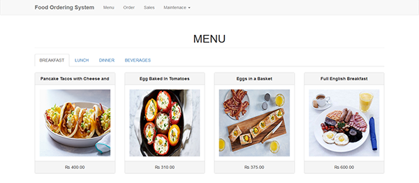 Simple Food Ordering System In PHP With Source Code