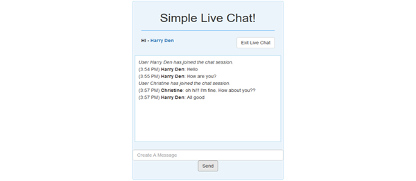 Simple Live Chat In PHP and JavaScript With Source Code
