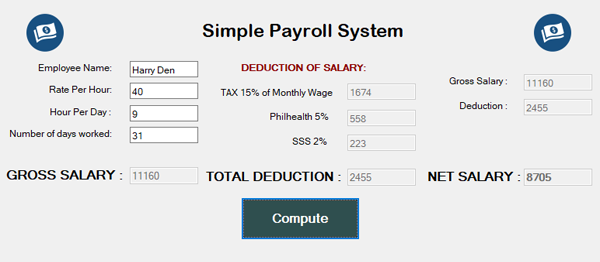 Simple Payroll System In VB.NET With Source Code