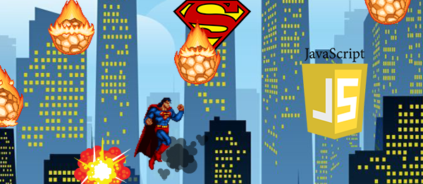 Superman Apocalypse Game In JavaScript With Source Code
