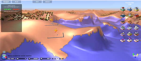 3D City Builder Game In JavaScript With Source Code
