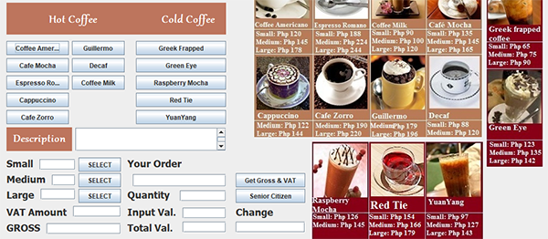 Coffee Shop System In JAVA With Source Code