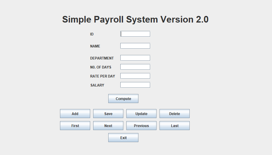 Simple Employee Payroll System In JAVA With Source Code | Source