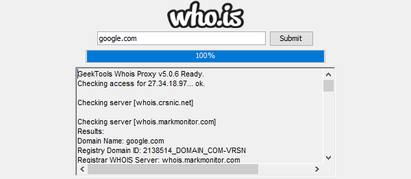 WHOIS Application In JAVA With Source Code