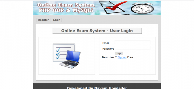 Online Examination System In PHP With Source Code | Source Code