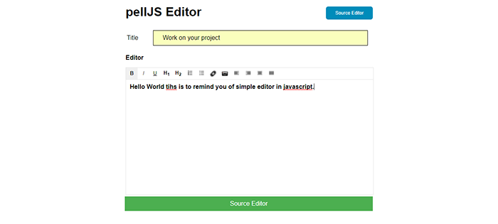 SIMPLE TEXT EDITOR IN JAVASCRIPT WITH SOURCE CODE
