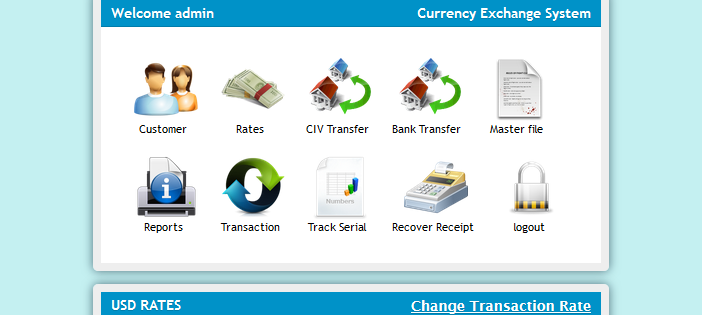 CURRENCY EXCHANGE SYSTEM IN PHP WITH SOURCE CODE