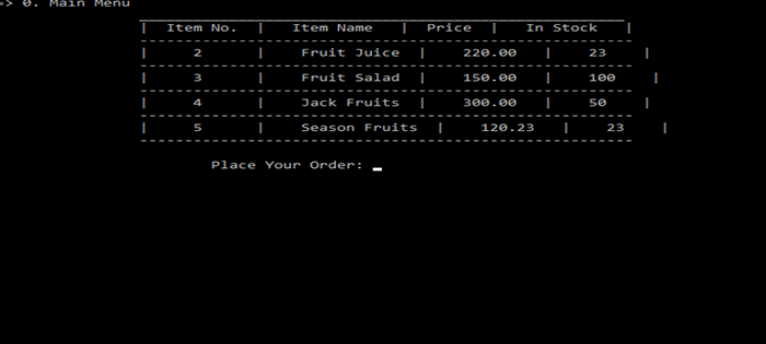 Fruit Shop Management System In C++ With Source Code