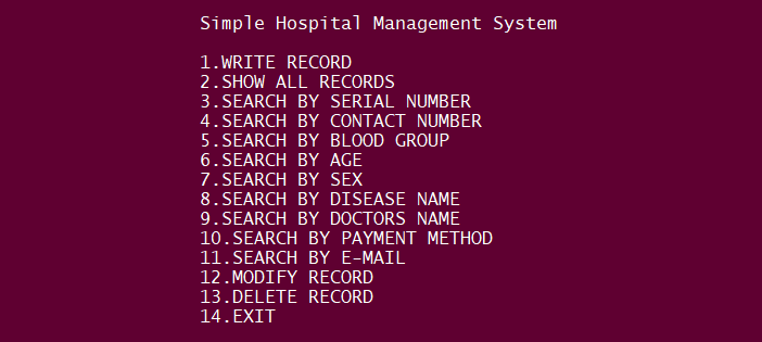 Simple Hospital Management System In PYTHON With Source Code
