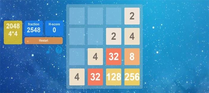 2048 GAME IN JAVASCRIPT WITH SOURCE CODE
