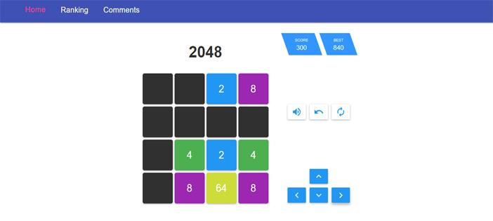 2048 Game in ReactJS