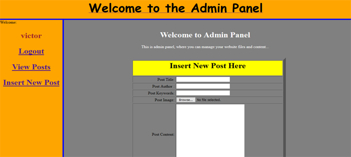 Content Management System in PHP
