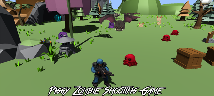 Piggy Zombie Shooting Game in Unity
