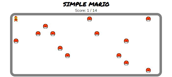 Simple Mario Game in ReactJS