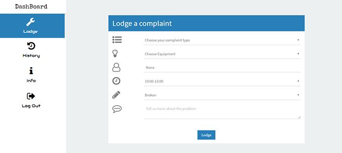 complaint register system in nodejs