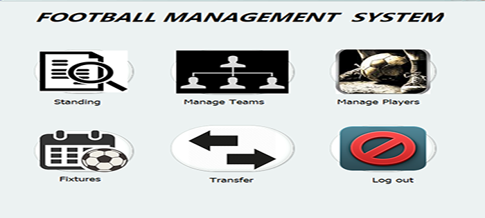football management system in java