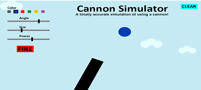simple cannon shooter in java