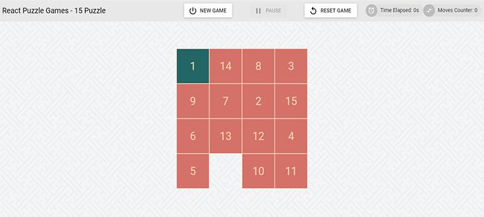 simple puzzle game in reactjs