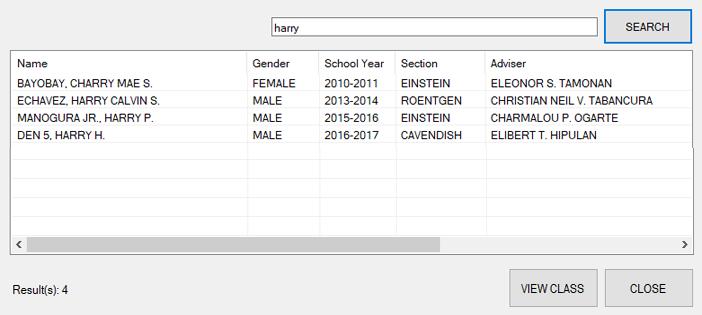 Alumni Information System in C#