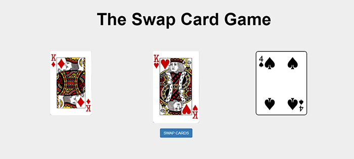 CARD SWAP GAME IN JAVASCRIPT WITH SOURCE CODE