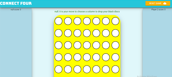 Connect Four Game In JavaScript