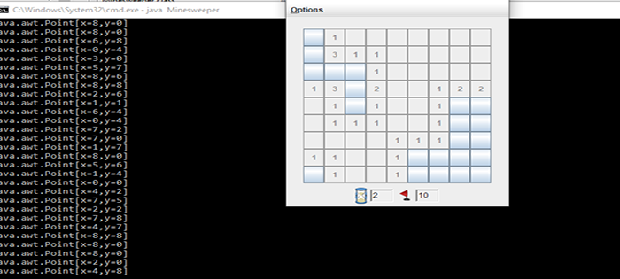 Minesweeper Game In Java AWT Components