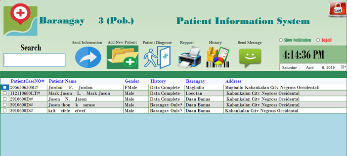 Patient Information System in VB.NET