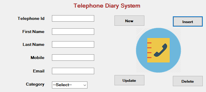 TELEPHONE DIARY SYSTEM IN VB.NET WITH SOURCE CODE
