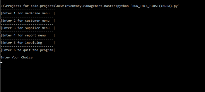 Medical Inventory System in Python With Source Code | Source