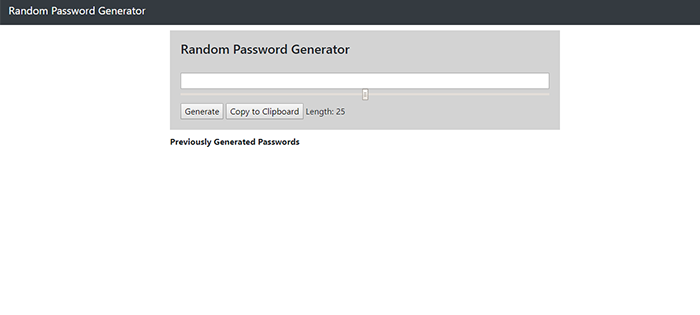 Password Generator In JavaScript