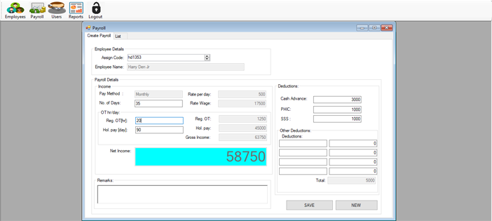 Payroll System in C#
