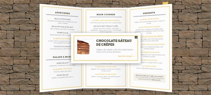 3D Restaurant Menu in JavaScript
