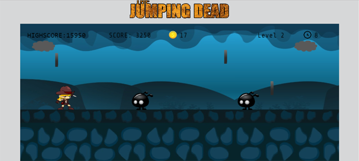 Jumping Dead Game in JavaScript