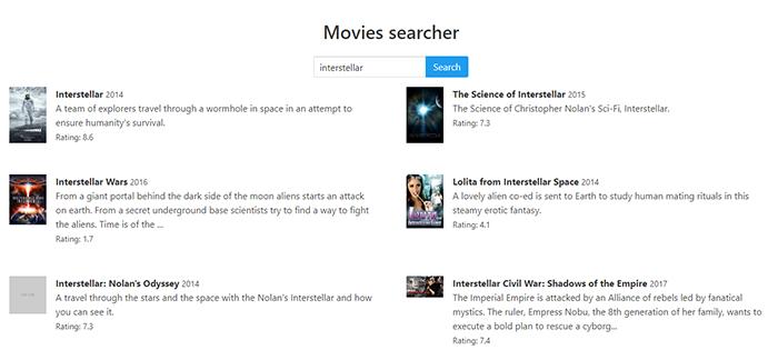 ReactJs Movie Finder