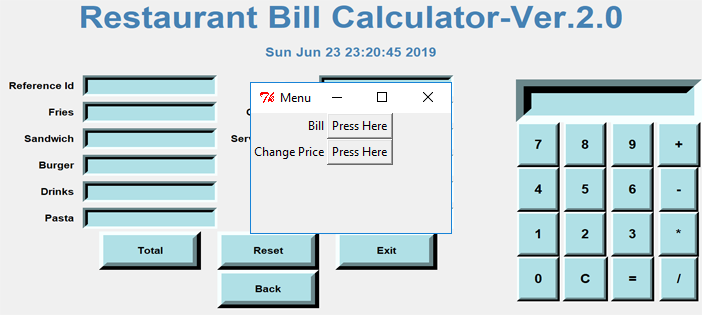 Restaurant Bill Calculator in Python