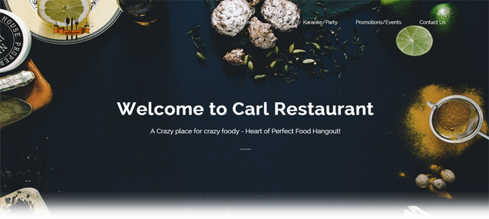 Restaurant Website In JavaScript